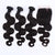 100% Real Unprocessed Malaysian Body Wave Hair Bundles With Closure For Full Head