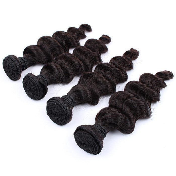 Fast Shipping 7A Grade 100% Unprocessed Indian Loose Wave 4 Bundles