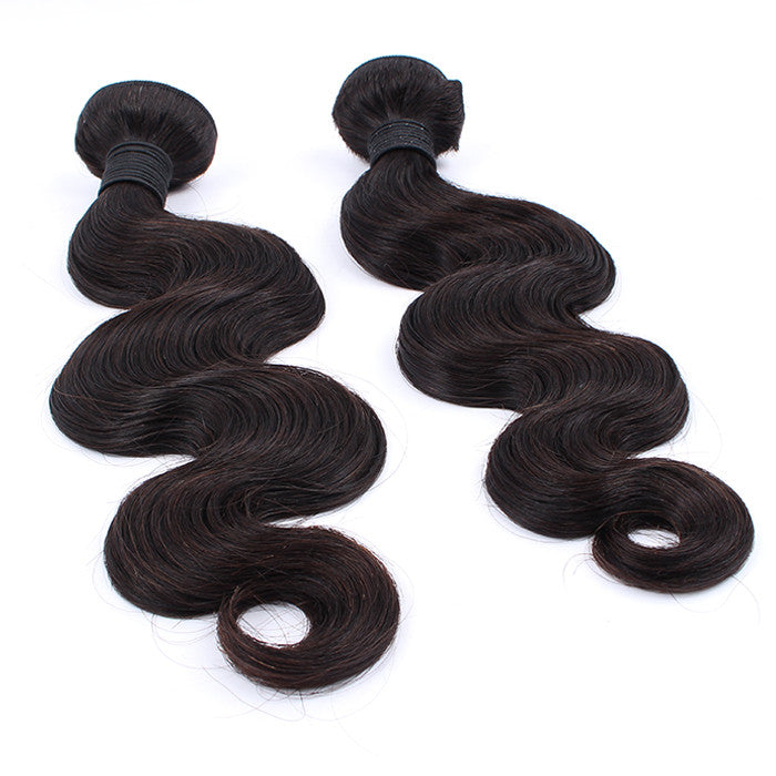 Great Quanlity Full Cuticle Indian Virgin Hair 2 Bundles Body Wave
