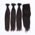 Straight 3 Bunldes Peruvian Virgin Hair With 1 Closure