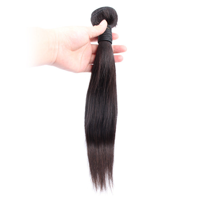 7A Peruvian Straight Hair Weaves 1pcs Virgin Remy Human Hair Bundles Natural Color