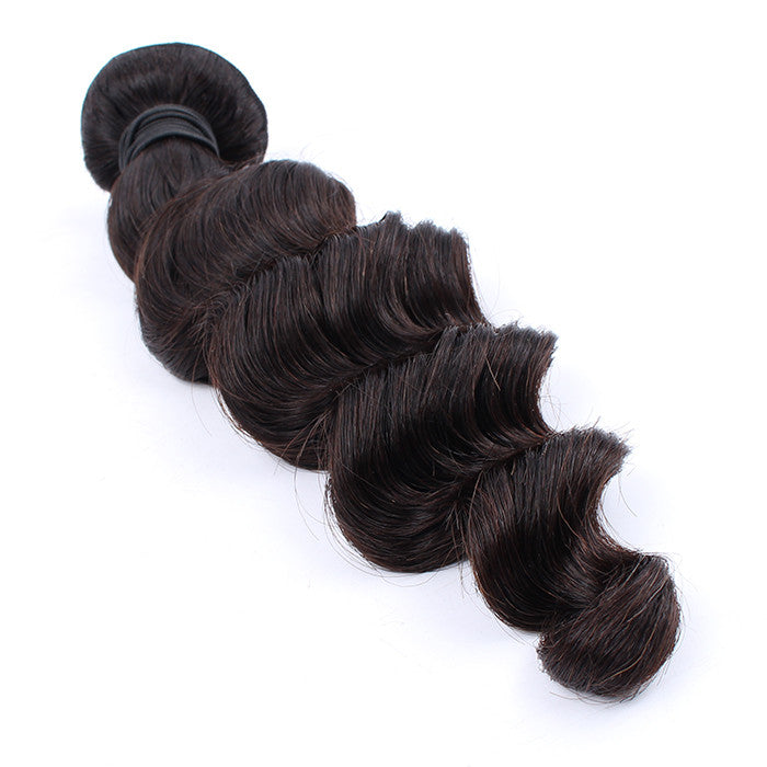 7A Grade unprocessed Peruvian Virgin Hair 1 Bundle Loose Wave