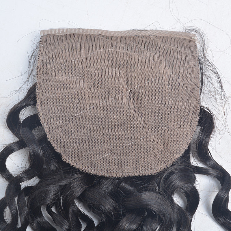 Peruvian Spiral Curly 4*4 inch Silk Based Closure
