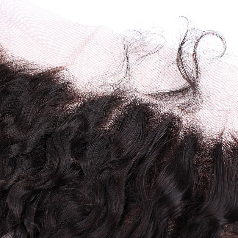 Peruvian Spiral Curly 13*4 inch Lace Frontal Free shipping