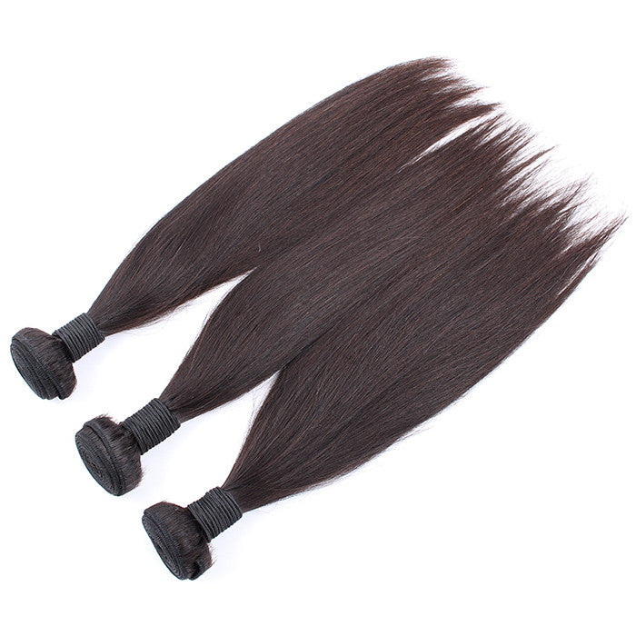 Raw Unprocessed Malaysian Virgin hair 3 Bundles Grade 7A Silky Straight