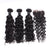 1 PC Top Closure With Bundles 3Pcs Brazilian Virgin spiral Curly Hair Bundles Free shipping