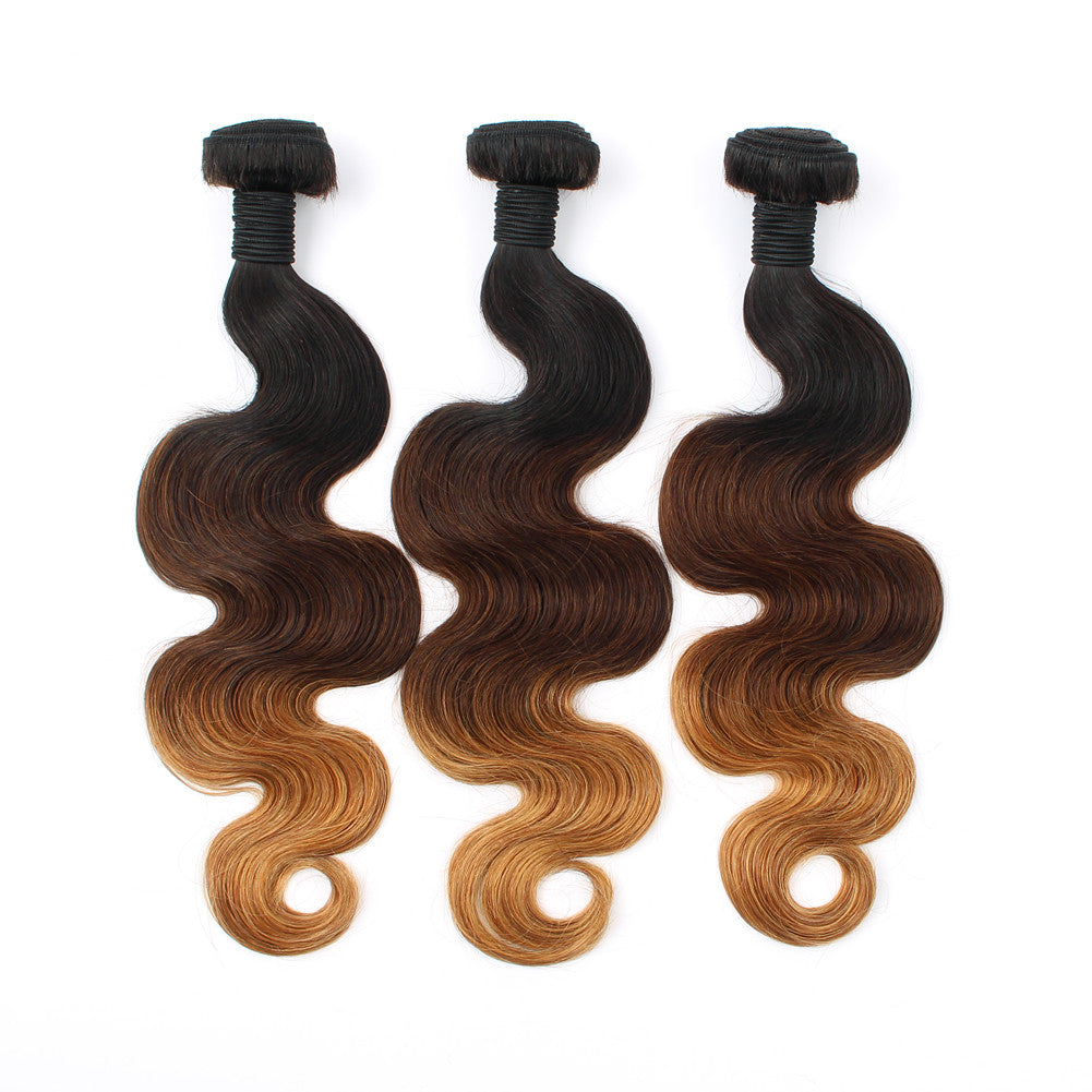 New Fashion Body Wave 1b/4/27 Ombre Color Virgin Hair Weave