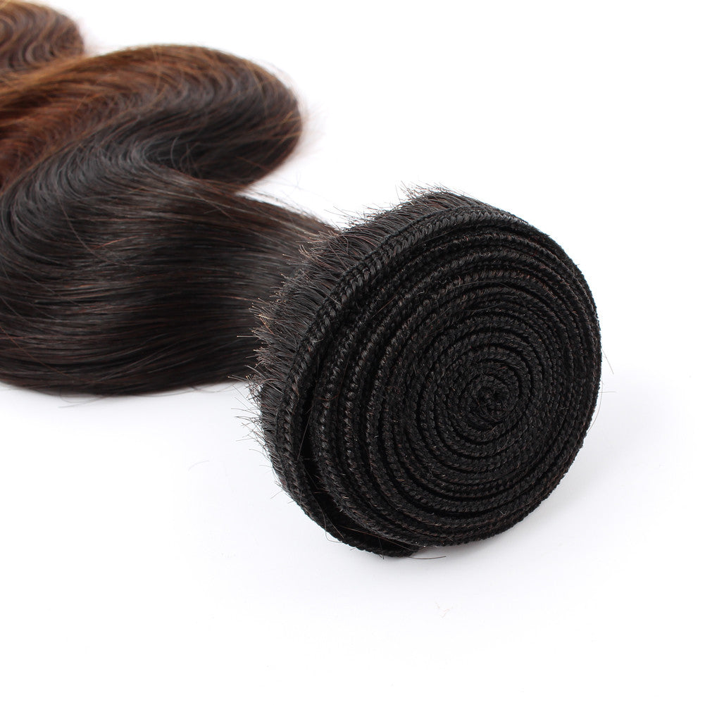 Hot Products Body Wave 1b/4/27 Ombre Color Virgin Natural Human Hair Fast Shipping