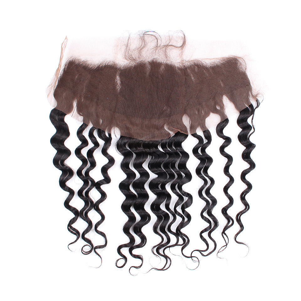 Not Acid Washed 13*4 inch Lace Frontal Indian Deep wave