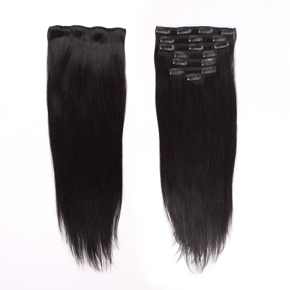 Clip in Hair Extensions 18inch Silky Straight Hair