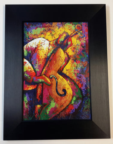Bass Player II Framed Art Print