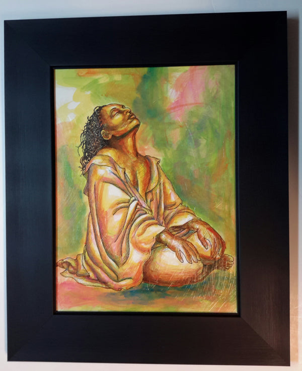 At Peace #2 Lithograph Art Print Framed