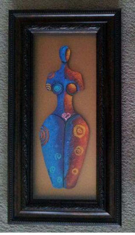 Body Beautiful #17 Acrylic Paint On Carved Board Art Original - LaShunBeal.com