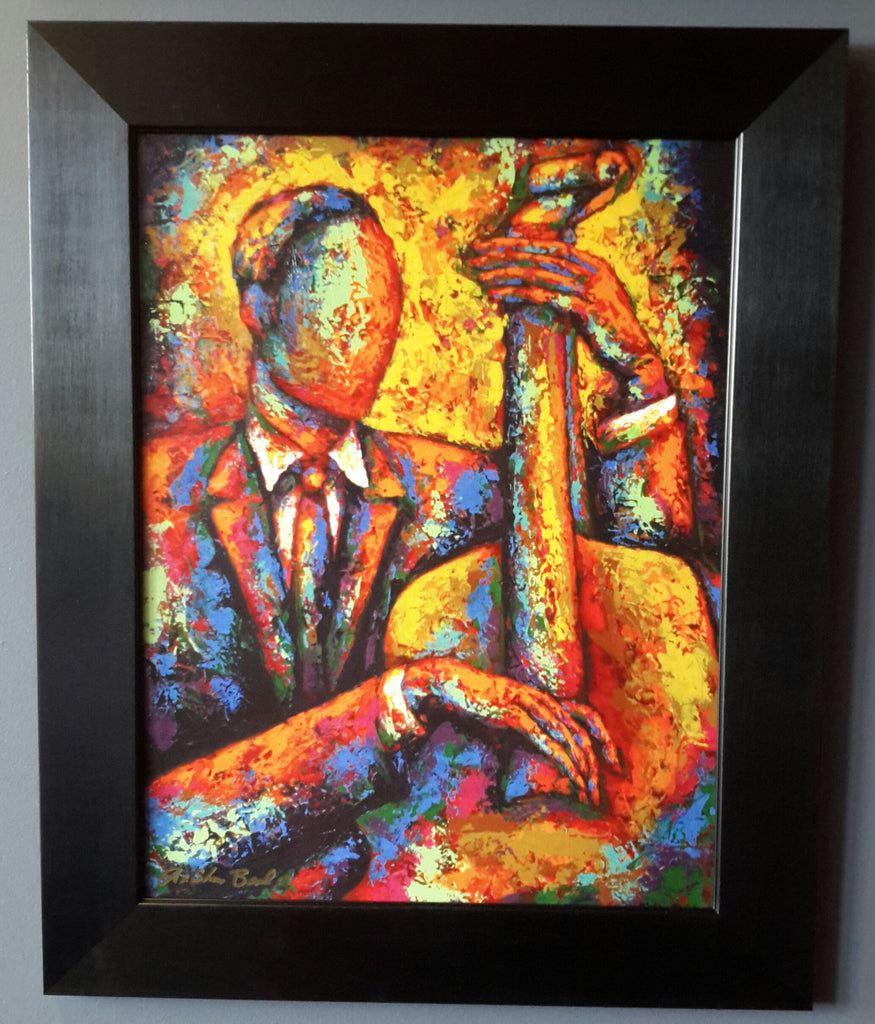 Bass Player #3 Framed Art - LaShunBeal.com