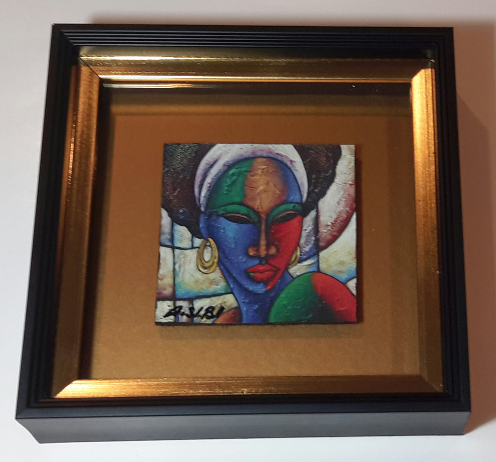 Colored Girl #10 Framed Art Print