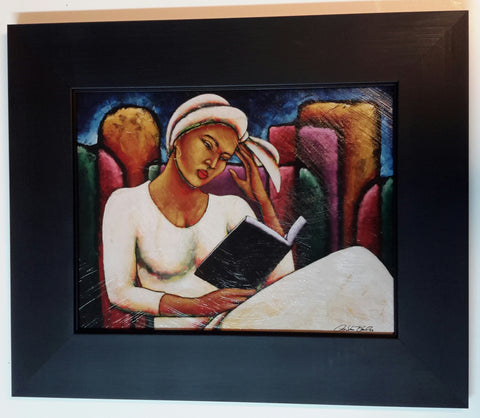 Deep In Thought Lithograph Art Print Framed