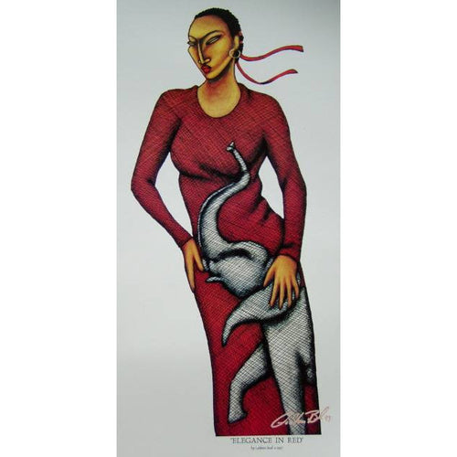 Elegance in Red Open Edition Lithograph