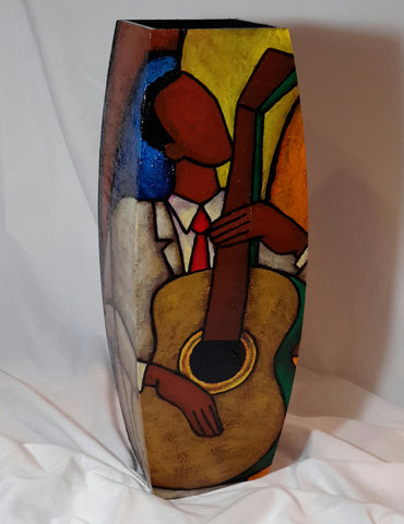 Hand Painted Wooden Vase #11