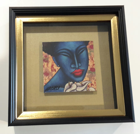 Indigo Blue Framed Art