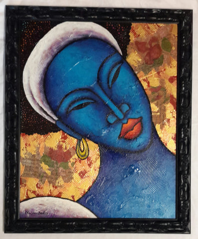 Indigo Blue #6 Framed Art