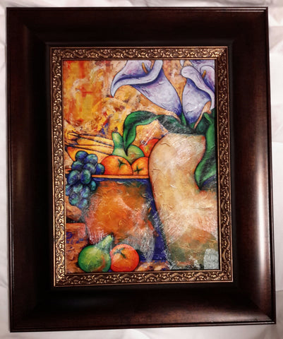 Lilies And Fruit #3 Framed Art