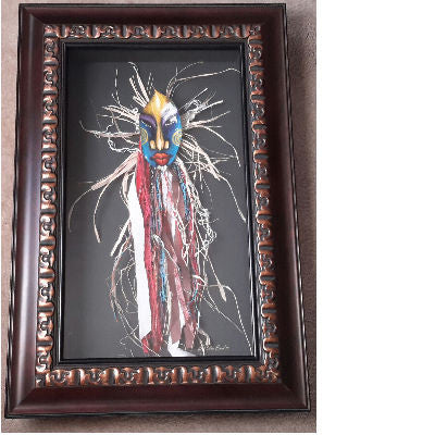 Mask #265 Framed Art - Lashunbeal.com