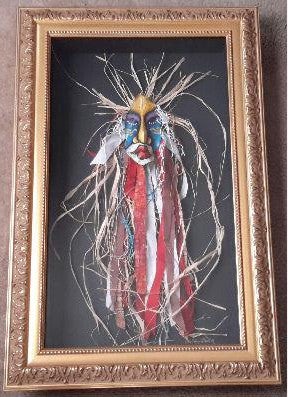 Mask #268 Framed Art - Lashunbeal.com