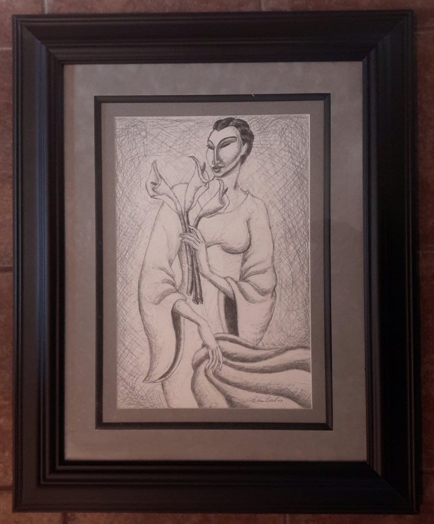 Madame Lily Original Framed