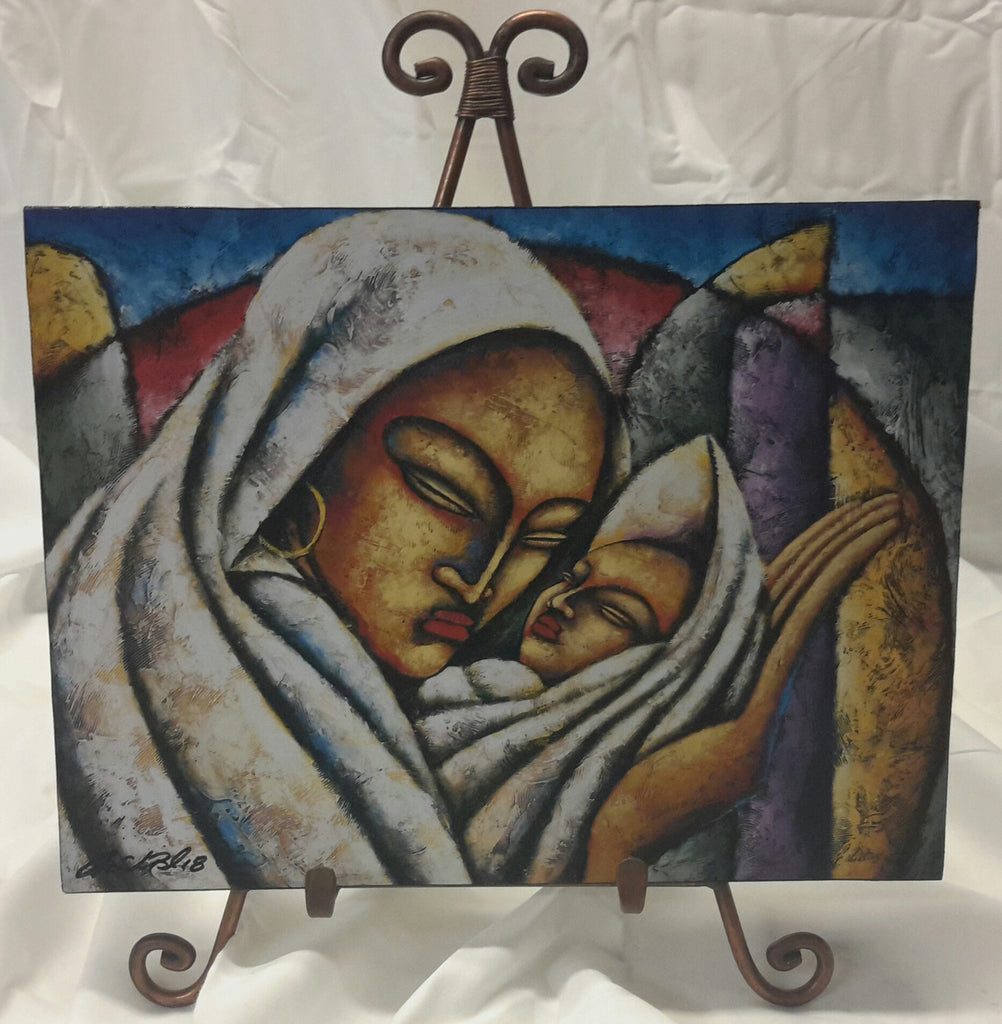 Madonna And Child Wall Art Plaque - Lashunbeal.com