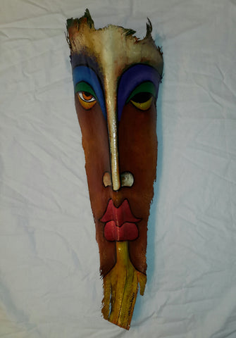 Mask #354 Wooden Wall Hanging Abstract Original