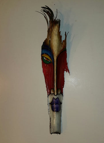 Mask #355 Wooden Wall Hanging Abstract Original