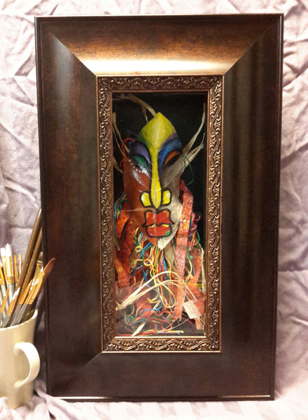 Mask #263 Framed Art - Lashunbeal.com