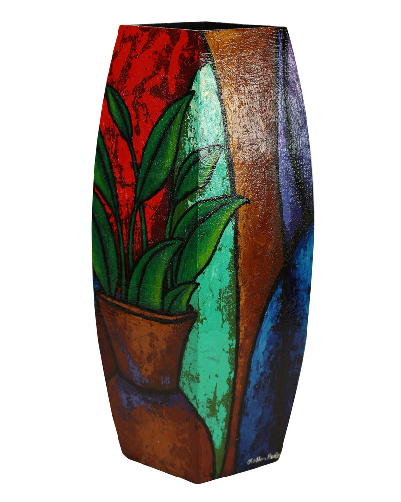 Hand Painted Wooden Vase #4 - LaShunBeal.com