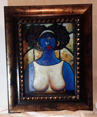 Queen #28 Mixed Media Original Framed