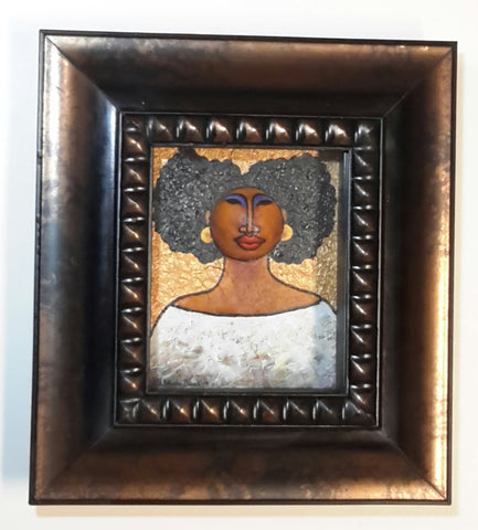Queen #31 Mixed Media Original Framed