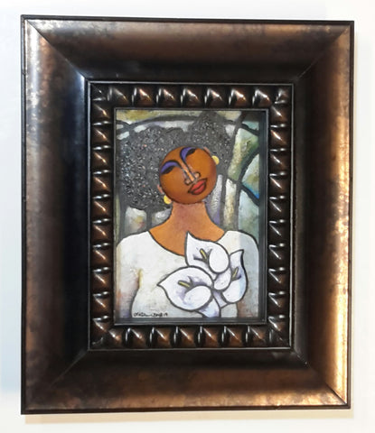 Queen #33 Mixed Media Original Framed