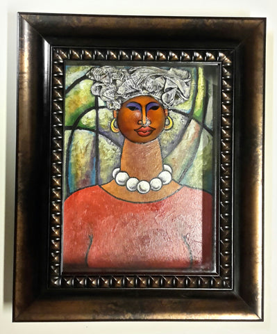 Queen #34 Mixed Media Original Framed