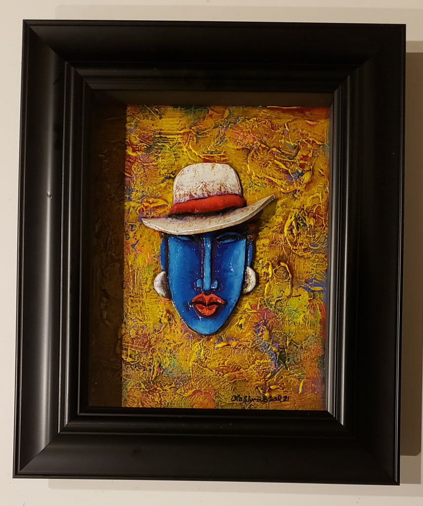 Queen #51 Clay Art Framed Original
