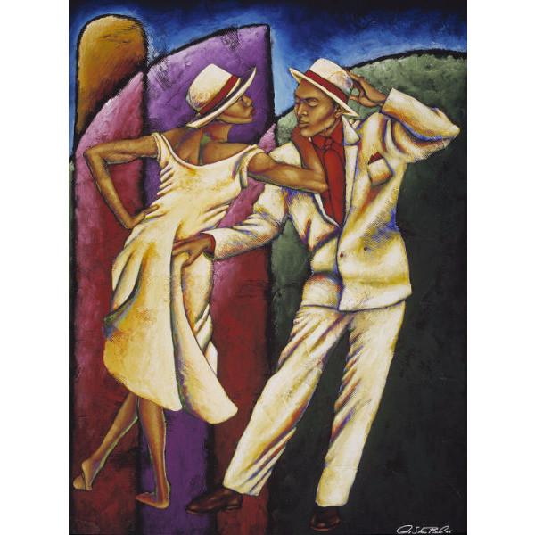 Steppin Out Giclee Art Print On Canvas