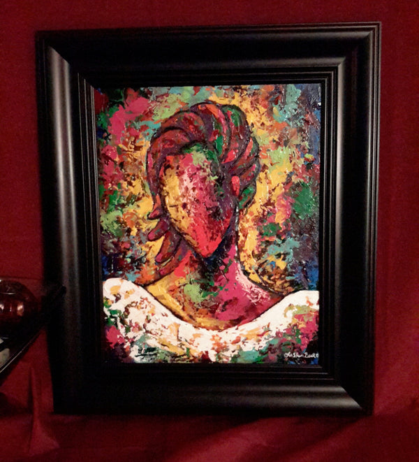 She #110 Framed Art - Lashunbeal.com