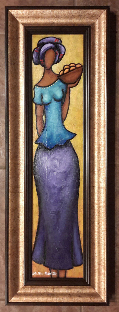 Sister #4 Acrylic Paint On Board Framed Original