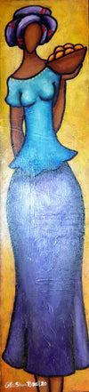 Sister #4 Acrylic Paint on Wood Art Original