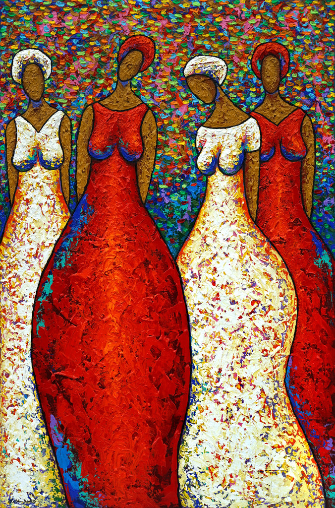 Sister Love Acrylic Paint on Canvas Art Original