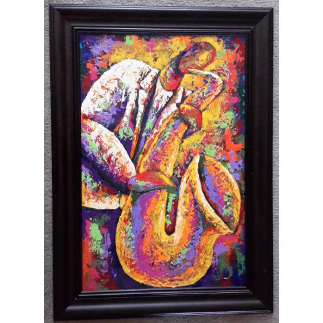 Smooth Sax Framed Art - Lashunbeal.com