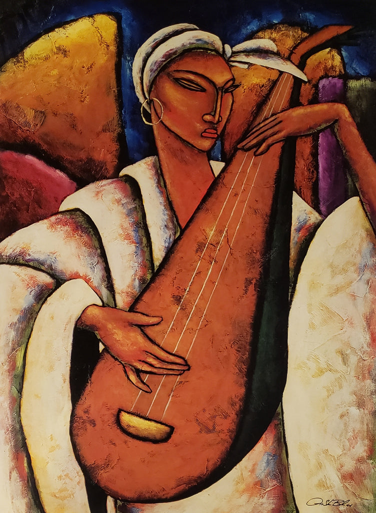 String Serenade Giclee Art Print On Canvas