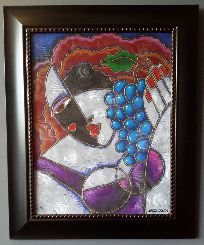Sweet Grapes Framed Art - Lashunbeal.com