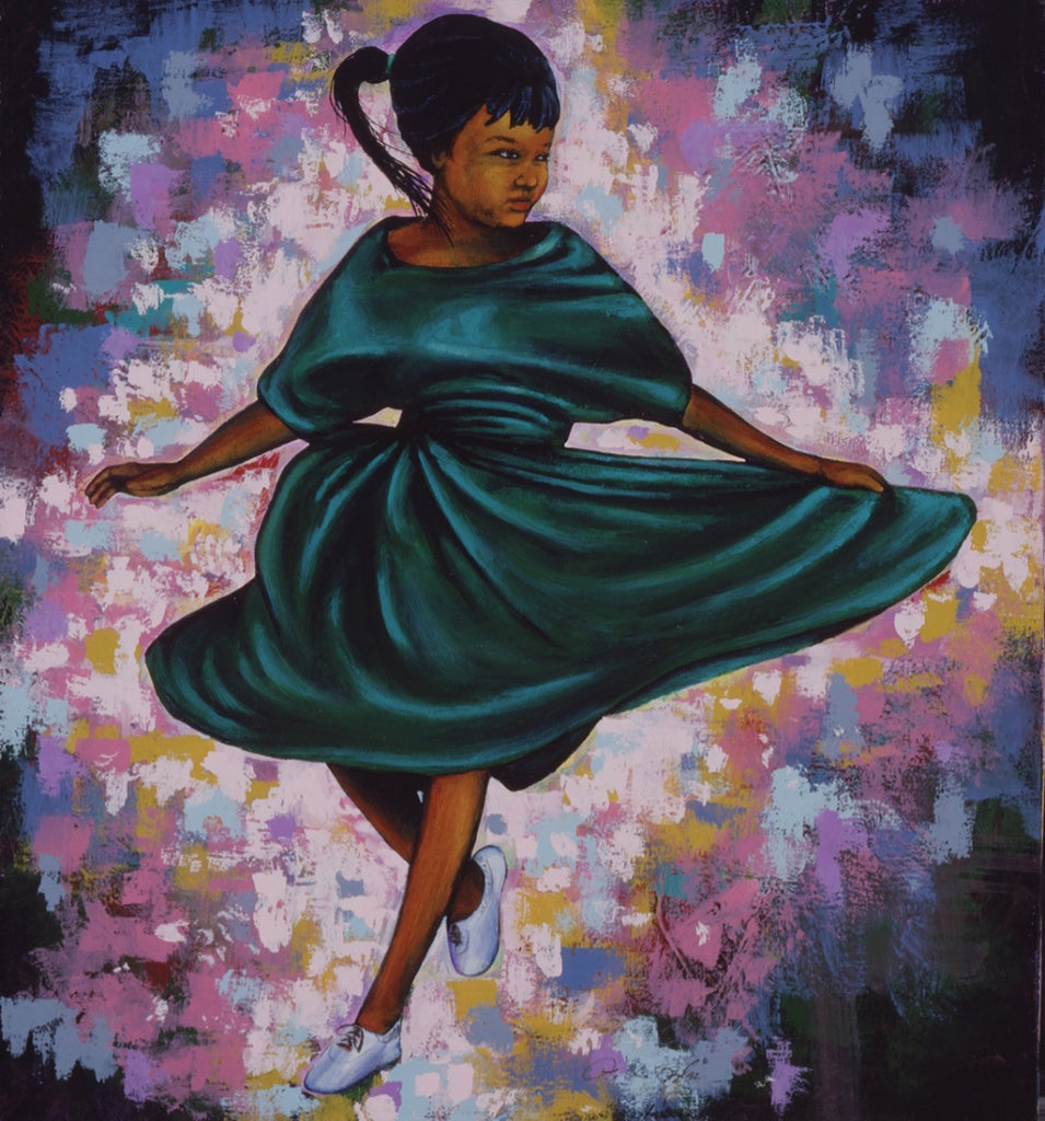 Twirl Giclee Art Print On Canvas