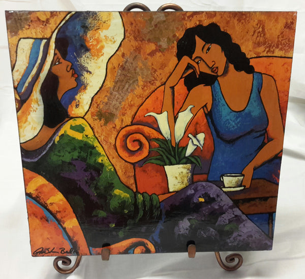Tea Talk Wall Art Plaque - Lashunbeal.com