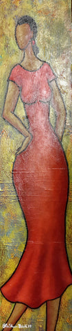 That Lady #19 Acrylic Paint On Canvas Art Original