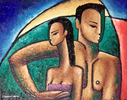 Together Acrylic Paint on Canvas Art Original